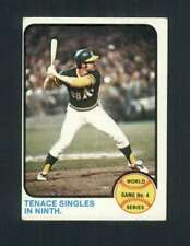 1973 Topps #206 World Series Game 4 Tenace Singles In Ninth. VGEX Athletics 1305