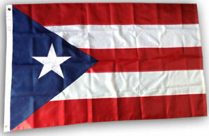 4x6 Embroidered Sewn Puerto Rico 210D Nylon Flag 4'x6' Heavy Duty Strong