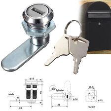 90 degree Cam Lock 25mm + 2 Free Keys for Cabinet Mailbox Drawer Cupboard Locker