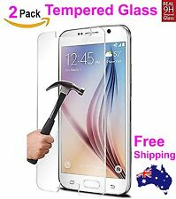 2x Scratch Resist Tempered Glass film Screen Protector for Samsung Galaxy S6 4G