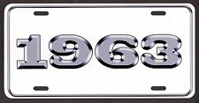 1963 LICENSE PLATE Ford Chevy Dodge Plymouth Buick Olds DeSoto Streetrod Rat rod