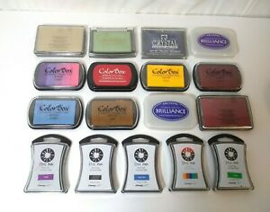 Lot of 17 Packs of Pigment Ink Pads Color Box, Stamp Craft, Anna Griffin & More