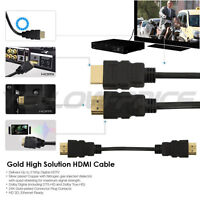 Premium 1.5Ft 2Ft HDMI Cable 1.4 Bluray 3D TV DVD PS3 HDTV Xbox LCD LED 1080P
