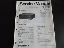 ORIGINALI service manual TECHNICS rs-x933