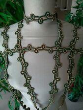 ANCIEN GALON PASSEMENTERIE 1900 pour décorer veste corsage d'époque 370 cm super