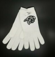 NWT Karl Lagerfeld Ivory Gloves With Black Rose. Retail $44.00.