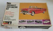 Vtg 1966 Monogram 1955 Chevrolet Bel Air Model Customizing Kit 1:24 Scale In Box