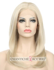 14''Blonde Wig Natural Straight Blonde Synthetic Lace Front Wigs For White Women