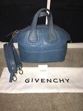 Distress Givenchy Blue Nightingale Small 2 Way Zipper Strap Handbag Lamb  Leather dfb50a74971a0