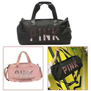 Travel Large Sports Gym Bag Pink Duffle Workout Bag Yoga Waterproof Oxford Bag