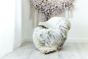 Real Sheepskin Rug Chair Cover Sheepskin Throw Sheep Skin Ivory #herdwik110