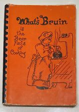 Vintage 1976 What's Bruin Cookbook Catholic High School Baton Rouge Louisiana