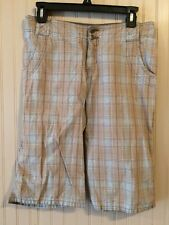 Mossimo Supply Co Multi-Color Plaid Bermuda Lowest Rise Walking Shorts Size 1