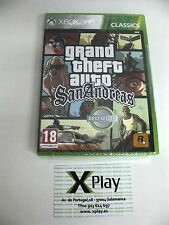 Xbox360 Grand Theft Auto San Andreas GTA Nuevo Precintado Pal España