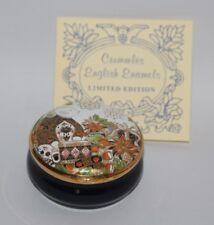 Royal Crown Derby / Crummles - Old Imari Honey Bear Teddy Enamel Box - vgc
