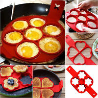 Nonstick Pancake Maker Mould Silicone Omelette Egg Ring Maker Kitchen Mold Tools