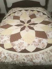 Beautiful King Over Sized Patchwork Star Quilt