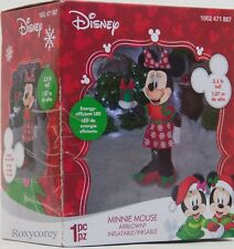 Christmas Disney 3.5 ft Light Up Minnie Mouse with Present Airblown Inflatable