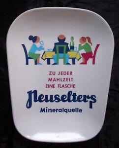 ZAHLTELLER Werbeteller Mineralquelle NEUSELTERS Mineralwasser SPRUDEL 1970er J.