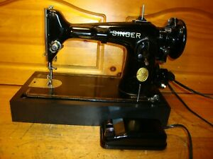 1949 SINGER SEWING MACHINE MODEL 201-2  , SERVICED