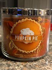 Bath And Body Works Pumpkin Pie 3 Wick Candle 14.5 Oz