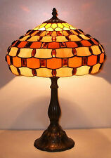 Amber Jewelled Tiffany Table Lamp   - Bulb Included RM5 JT12TL