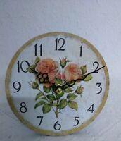 Vintage Tischuhr Nostalgie Uhr Landhausstil Rosen Shabby chic