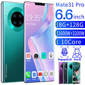 Unlocked Mate31 Pro True 1+16G 6.6'' Smart Phone Full HD Dual SIM Mobile