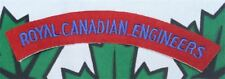 paire d'insignes canadien du  Royal canadian engineers