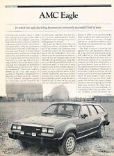 1980 Amc Eagle Road Test Original Car Review Report Print Article J950
