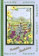 '60th Birthday Garden' Greeting Card (Handcrafted Design with Free Options)