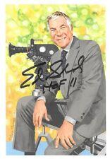 ED SABOL OHIO STATE BUCKEYES NFL FILMS SIGNED GOAL LINE ART CARD GLAC POSTCARD