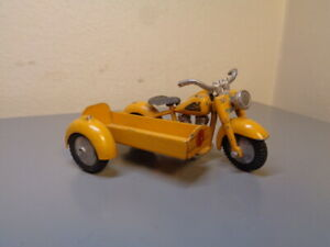 TEKNO DENMARK 763 VINTAGE HARLEY DAVIDSON MOTORCYCLE WITH SIDECAR VERY RARE VG