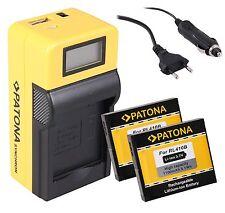 2x Patona Akku RL410B + LCD  LADEGERÄT für Maginon Action Cam AC-800W