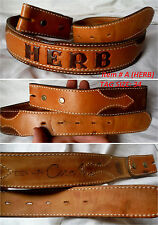 Pick One . Vintage 70S Leather Embossed Name Tooled Western Belts Q