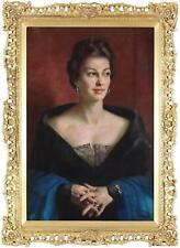 John Thomas Young Gilroy Fine Oil Portrait Painting of a Lady Signed