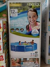 New Intex 12 ft X 30 ft Above Ground Swimming Pool In Hand