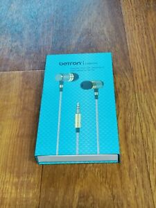 Betron YSM1000 Headphones, Earbuds, High Definition, in-Ear, Noise Isolating,