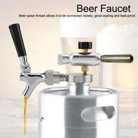 Edelstahl CO2 Injektor Bier Wasserhahn Mini Spear Tap für 2/3.6/4L Bierfass