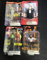 Set of 4 Creepy Classics Mini Figures by X One X Archive Inc.NIB on cards 2005