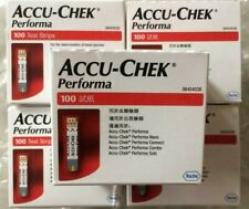Pack of 5 ACCU- CHEK PERFORMA 100 TEST STRIPS EXP-JUNE/2021  BEST OFFER