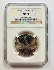 1995 S CIVIL WAR 50C NGC MS70 Brown Label Half Dollar 50 Cents - Ships Fast