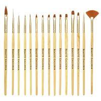 15pcs Nail Art Painting Gel Brush Liner Tips Builder Detailing Striping Blending