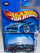 2004 Hot Wheels First Editions #2-100 '69 Black Dodge Charger 4+ Malaysia Boys