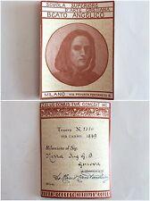 Milano Scuola Superiore d'Arte Cristiana Beato Angelico tessera Genova 1939