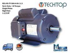1.5 HP Electric Motor, Farm Duty, 1800RPM,  Single Phase, 56H, Rigid-Face