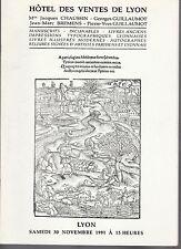 Catalogue de VENTE - INCUNABLES - LIVRES - Lyon - 1991