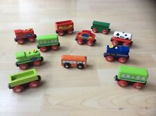 Mixed Lot of Wooden Trains & Carriages, Brio, Elc etc
