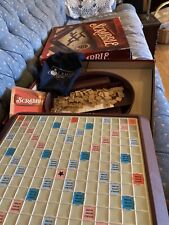 SCRABBLE DELUXE Turntable  Game 2001 COMPLETE