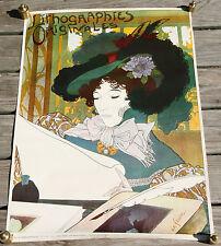 Vintage Georges de Feure Art Nouveau Lithgograph Poster Verkerke D203 Holland